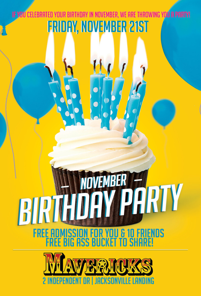Mavericks November Birthday Party