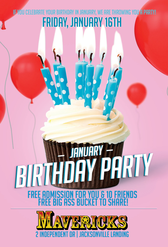 Januarty birthdays at mavericks