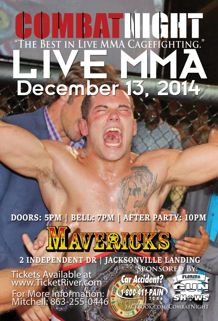 combat night live mma at mavericks