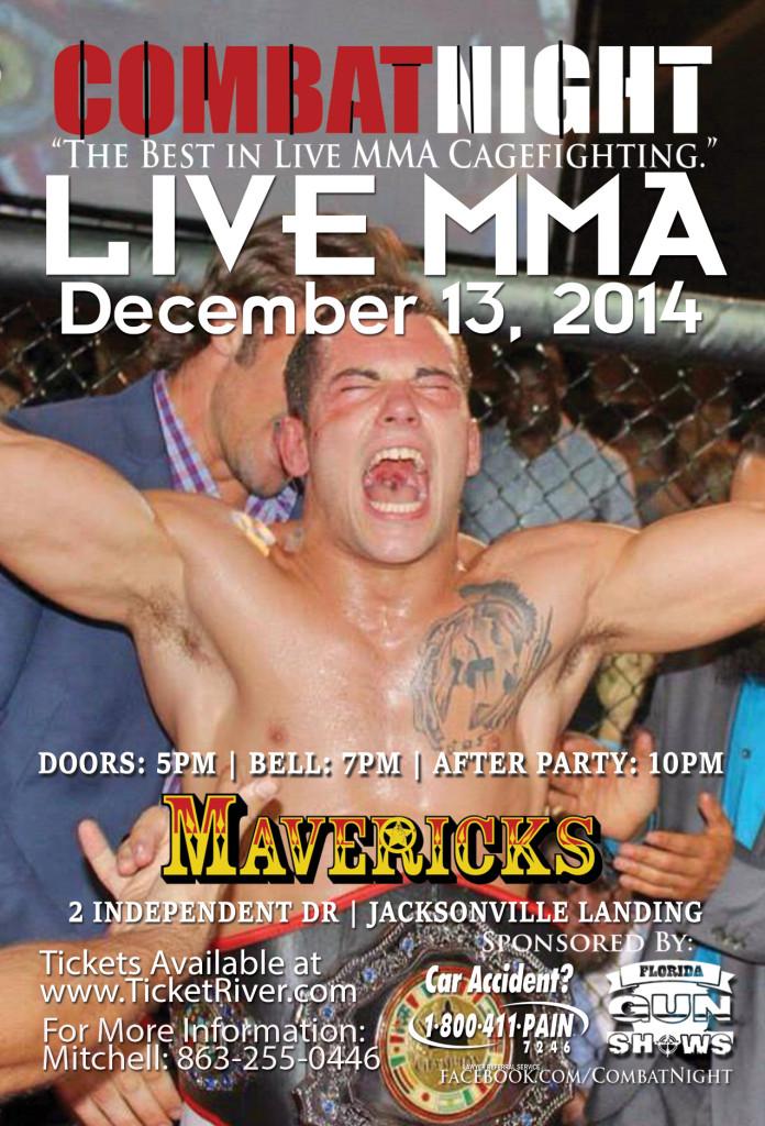 combat night live mma at mavericks