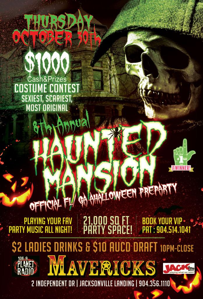 mavericks haunted mansion halloween party 2014