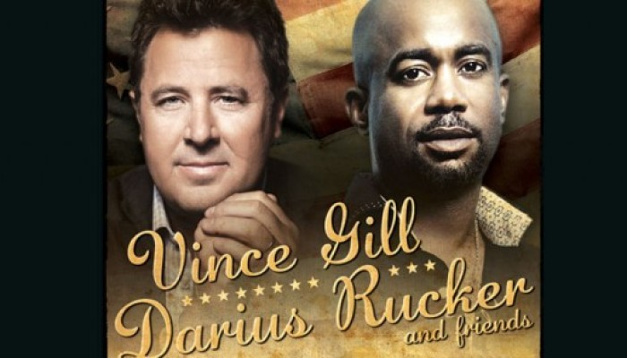 Darius Rucker and Vince Gill in Jacksonville Dec 1st