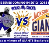 Jacksonville Giants vs. South Carolina Warriors – 12/8/2012