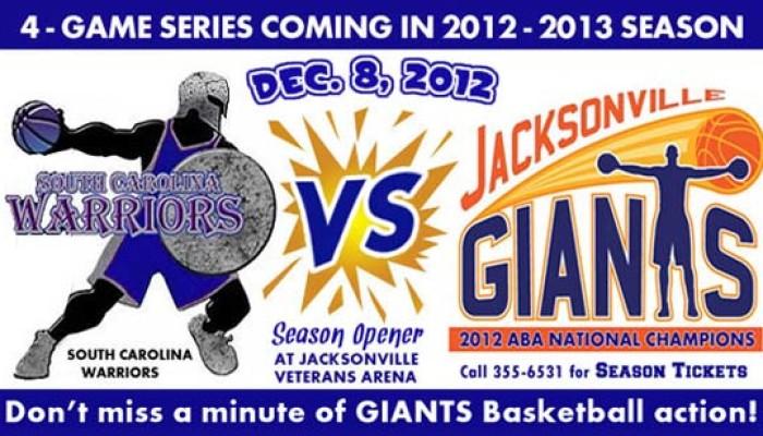 Jacksonville Giants vs. South Carolina Warriors – 12/8/2012