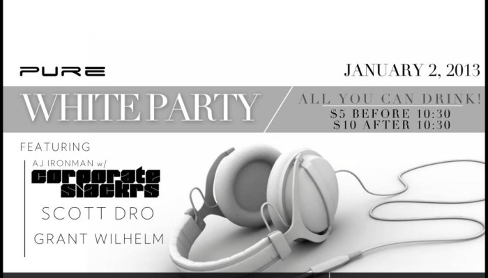 WideAwake Wednesdays: All White Party 1.2.13