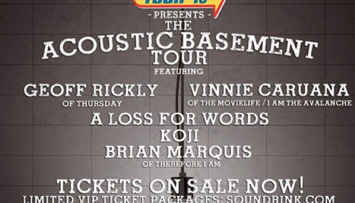 Warped Tour Acoustic Basement (Thursday, The Movielife, A Loss For Words…