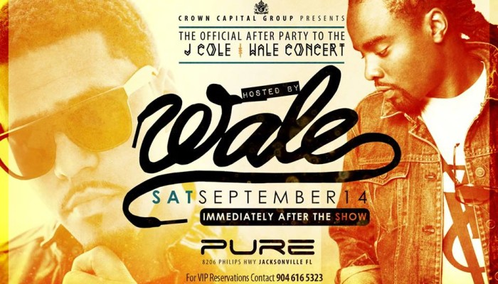 J. Cole & Wale Concert After Party at Pure next Saturday