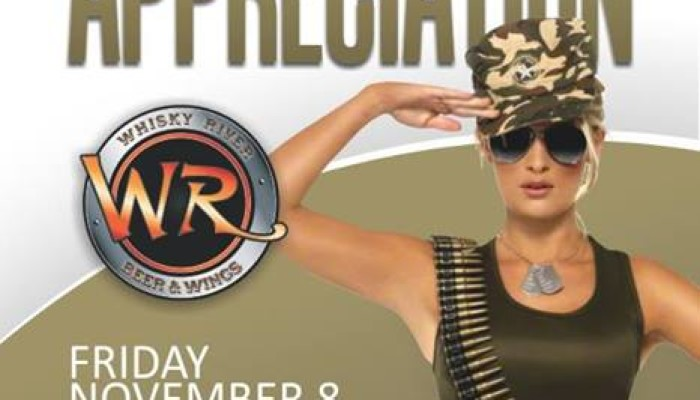 HUGE Military Appreciation Party at Whisky River – Fri Nov 8th