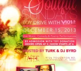SoulFul Sundays Toy Drive with V101.5fm Dec 15th