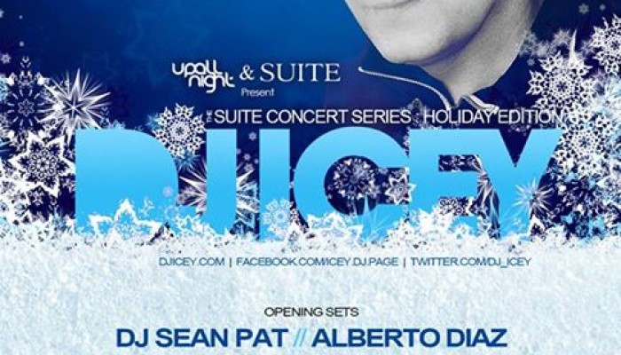 DJ Icey Returns for the Suite Concert Series – Holiday Party – Thursday, December 19