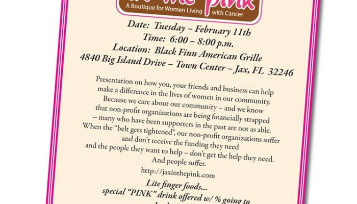 BlackFinn American Grille – In the Pink Fundraiser
