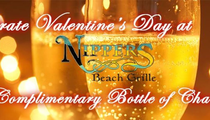 Nippers Beach Grille – Free Valentine's Champagne