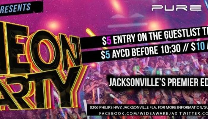 Pure Nightclub Jacksonville ▲ EDM▼ WideAwake :: Neon Blacklight Party ▼ EDM▲