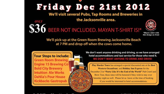 Green Room Brewing Mayan Calendar Celebration