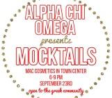 Mocktails with Alpha Chi Omega