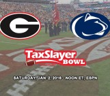 New Years Day 2016: Penn State vs Georgia Bulldogs at the GatorBowl