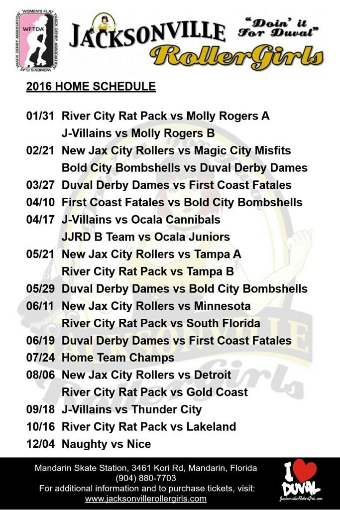 roller derby schedule