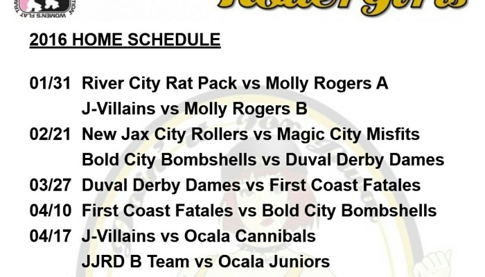 Roller Derby in Duval: Jacksonville Roller Girls Schedule