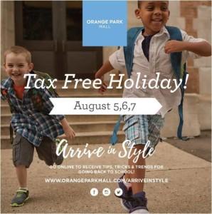 tax free holiday jacksonville