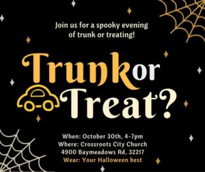 haloween trunk or treat