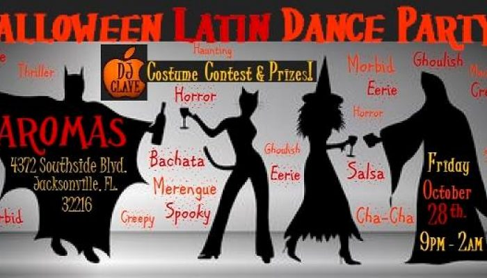 Trick Or Latin Dance? Halloween Party at Aromas!  | Fri Oct 28 Jacksonville