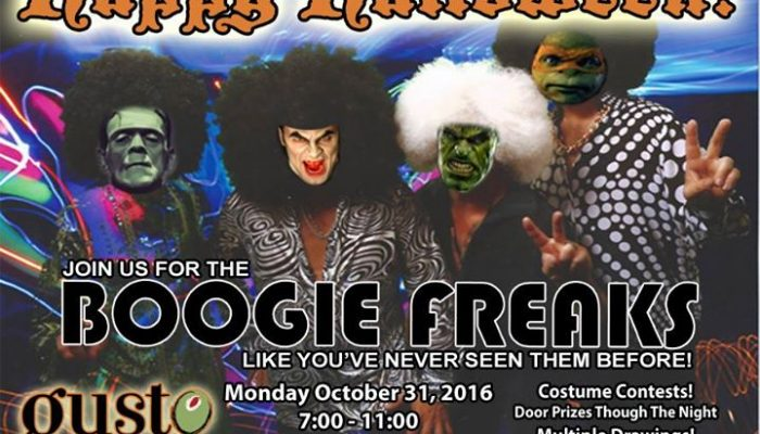 Halloween 2016:  Boogie Freaks at Gusto | Mon Oct 31
