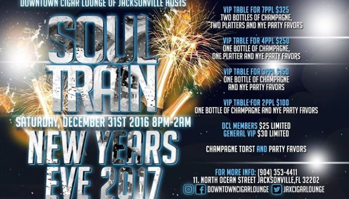 "New Years Eve 2017: Downtown Cigar Lounge ""Soul Train"""