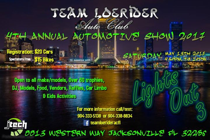 Team LoeRider Lights Out Jacksonville Sat May - Car show jacksonville fl