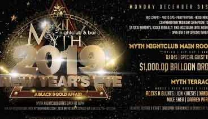 Jacksonville New Years Eve 2019: Myth Nightclub Downtown